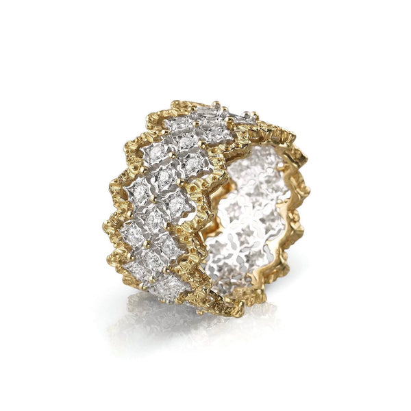 BUCCELLATI-RAMAGE-ROMBI-ETERNELLE-BAND-RING-DIAMONDS-R5039