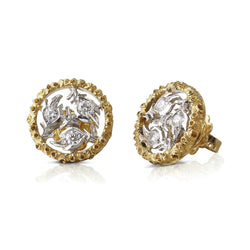BUCCELLATI-RAMAGE-STUD-EARRINGS-DIAMONDS-YELLOW-WHITE-GOLD-B167PN