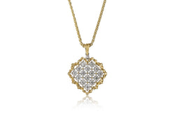 BUCCELLATI-ROMBI-HEART-PENDANT-NECKLACE-DIAMONDS-WHITE-YELLOW-GOLD-B167J1