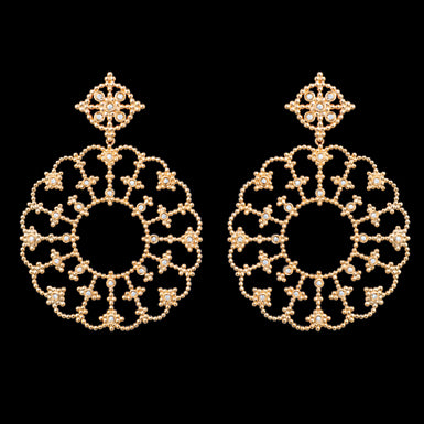 Carla Amorim - Me Leva - Drop Earrings with Diamonds, 18k Yellow Gold