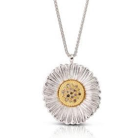 buccellati-blossoms-daisy-pendant-necklace-brown-diamonds-sterling-silver-JAGPEN012352
