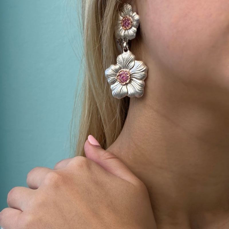 Buccellati-Sterling-Silver-Pink-Sapphires-Gold-Drop-Earrings-JAGEAR015242