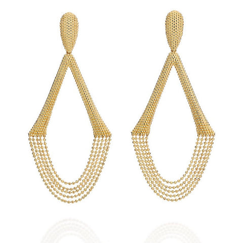 Carla Amorim - Terra Da Drizzle Nova Earrings, Yellow Gold.