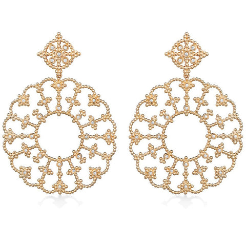 Carla Amorim - Me Leva Drop Earrings with Diamonds, 18k Yellow Gold