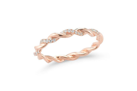 Dana Rebecca Designs - Carly Brooke Eternity Diamond Band Ring, Rose Gold.