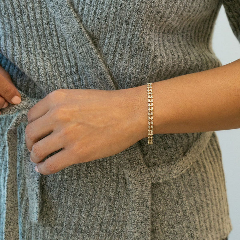 Dana Rebecca Designs - Lulu Jack Station Bracelet with Diamonds, White Gold.