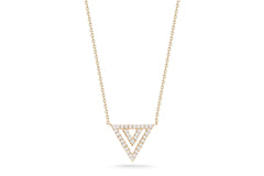Dana Rebecca Designs - Aria Selene Triangle Pendant Necklace with Diamonds,Yellow  Gold.