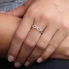 Dana Rebecca Designs - Sophia Ryan Infinity Diamond Ring, White Gold.