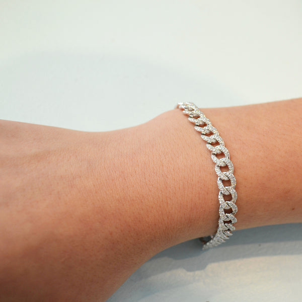 AFJ Diamond Collection - Diamond Link Bracelet, 18k White Gold