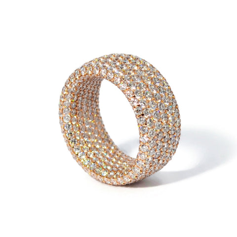 Eclat - Inside & Out - Diamond Band Ring, 18k Rose Gold