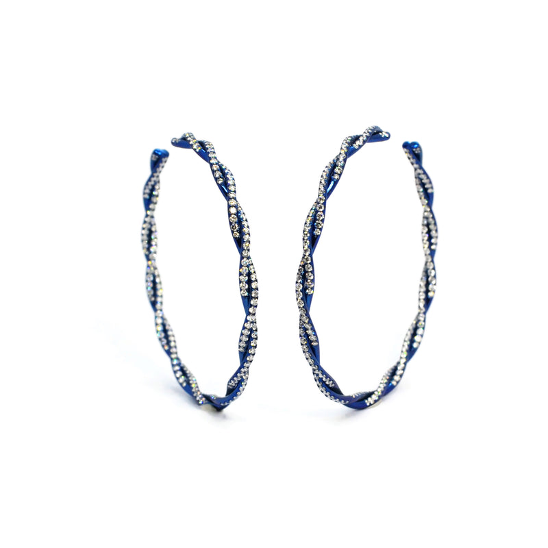 ECLAT-TWISTED-VINE-HOOP-EARRINGS-DIAMONDS-BLUE-TITANIUM