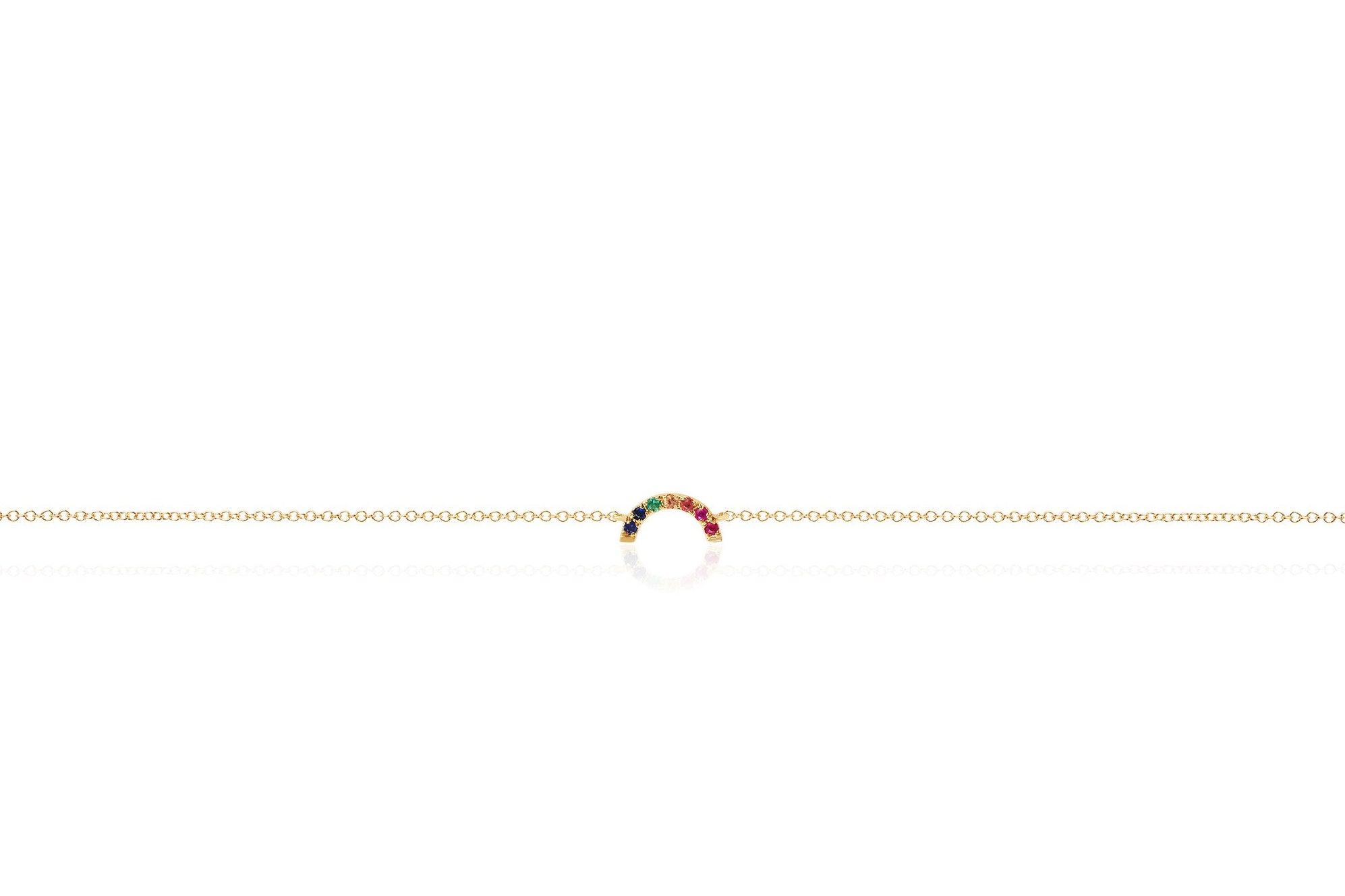 EF Collection - Rainbow Multicolor Bracelet, Yellow Gold.