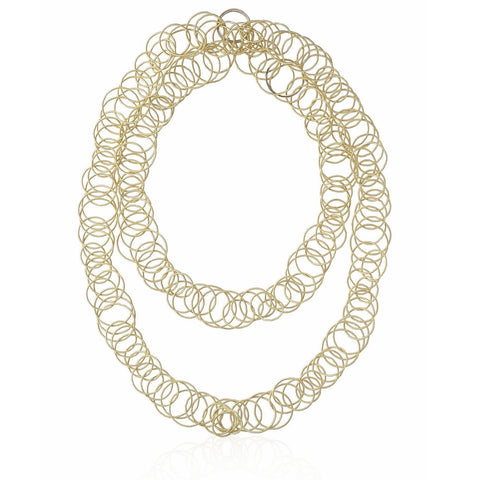 "Buccellati  ""Hawaii"" Long Chain Necklace, 18k Yellow Gold."