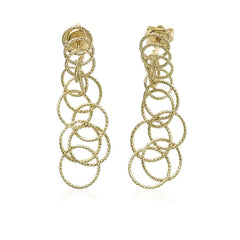 "Buccellati ""Hawaii"" Drop Earrings, 18k Yellow Gold"