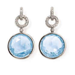 A & Furst - Jicky - Drop Earrings with Blue Topaz and Diamonds, 18k White Gold