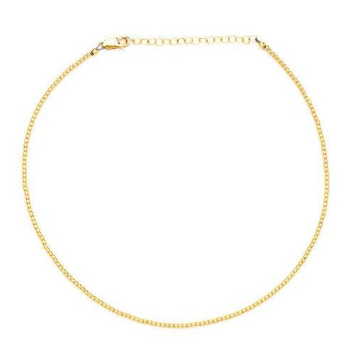 Karen-Lazar-2mm-Yellow-Gold-Bead-necklace