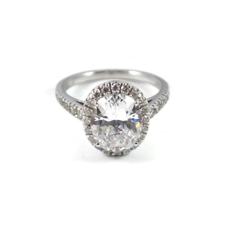 "A & Furst ""Le Magnifique"" Mounting Ring for Oval-cut Diamond, 18k White Gold"
