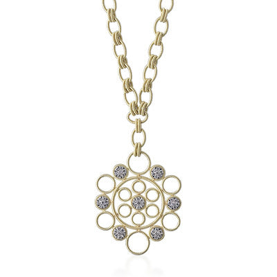 "Buccellati ""Maria"" Pendant Necklace with Diamonds, 18k Yellow Gold."