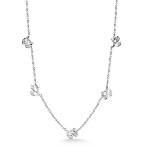 "Miseno ""Sea Leaf"" Necklace, Diamonds, 18k White Gold"