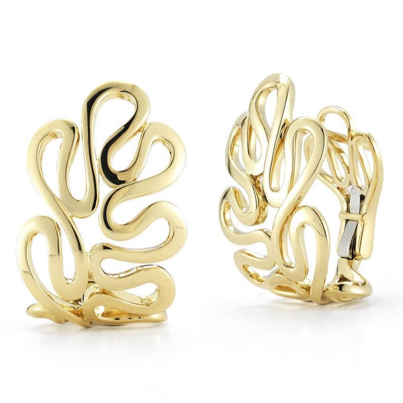 "Miseno ""Sea Leaf"" Hoop Earrings, 18k Yellow Gold."
