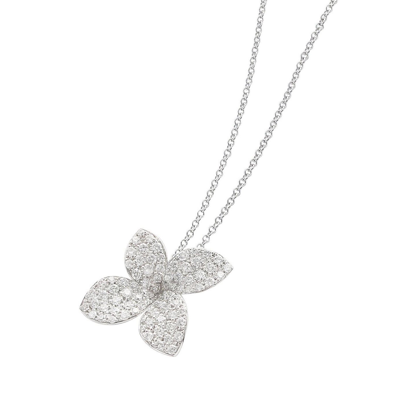 Pasquale Bruni Giardini Segreti Petit Pendant, 18k White Gold with Diamonds