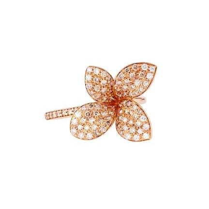 Pasquale Bruni Giardini Segreti Petit Ring, 18k Rose Gold with Diamonds