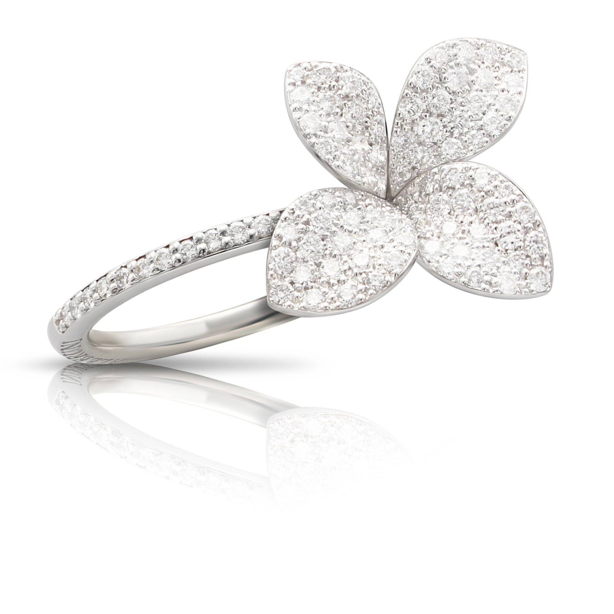 Pasquale Bruni Giardini Segreti Petit Ring, 18k White Gold with Diamonds