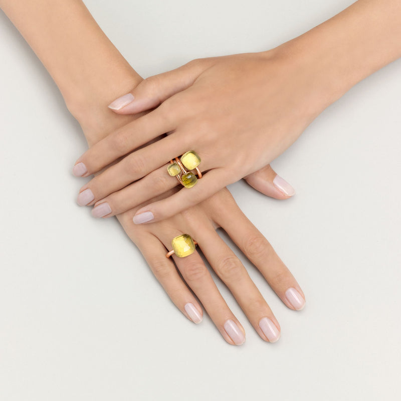 POMELLATO-CLASSIC-NUDO-STACKABLE-RING-LEMON-QUARTZ-A.A110/O6/QL