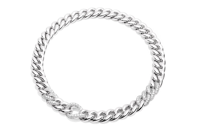 POMELLATO-GOURMETTE-CHAIN-NECKLACE-DIAMONDS-WHITE-GOLD-CB97026B2