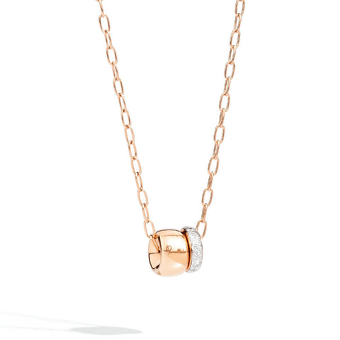 Pomellato - Iconica - Pendant 18K Rose Gold and Diamonds with Chain