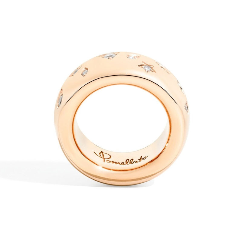 Pomellato-Iconica- Medium-Band Ring-with-Diamonds-18k-Rose-Gold