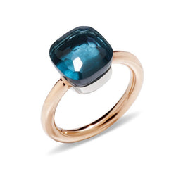 POMELLATO-NUDO-STACKABLE-RING-LONDON-BLUE-TOPAZ-ROSE-GOLD-A.A110/O6/TL
