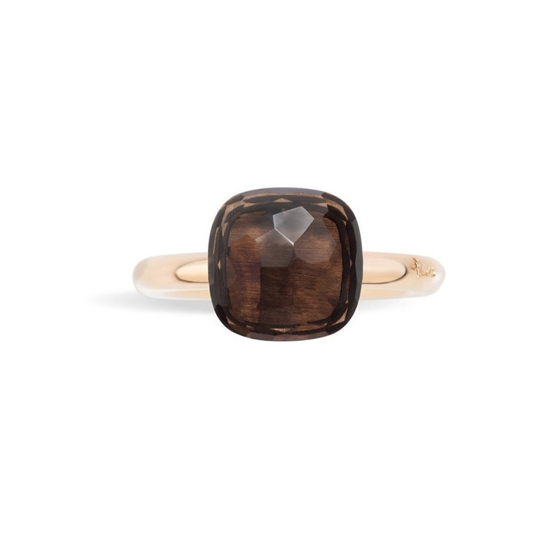 POMELLATO-NUDO-STACKABLE-RING-SMOKY-QUARTZ-A.A110/O6/QF