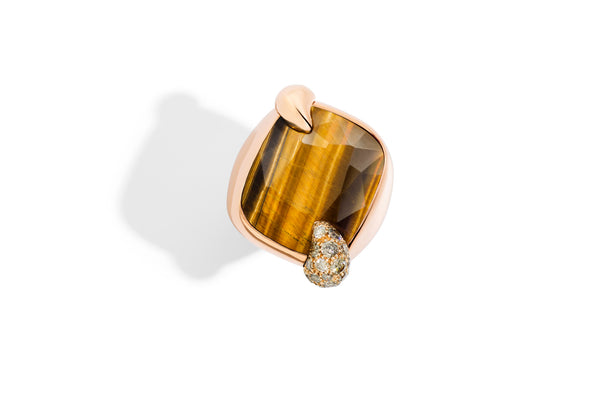POMELLATO-RITRATTO-RING-18K-ROSE-GOLD-TIGERS-EYE
