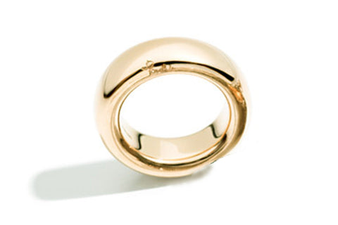 "Pomellato ""Tango"" Large Band Ring, 18k Yellow Gold"