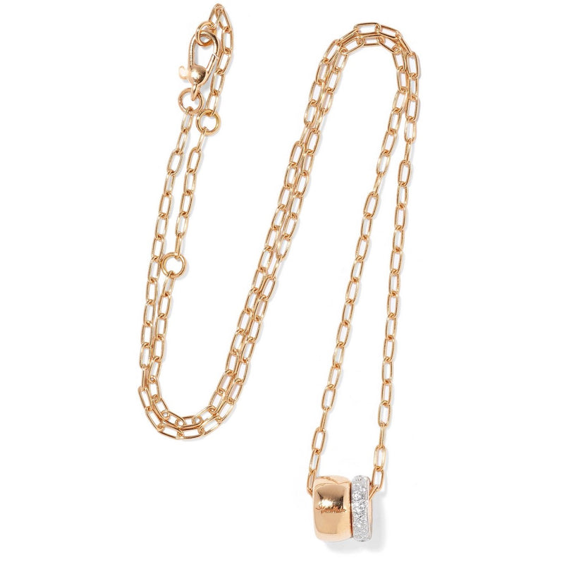 Pomellato-Iconica-Pendant-18K-Rose-Gold-and-Diamonds-with-Chain
