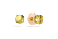 Pomellato - Nudo - Stud Earrings with Lemon Quartz, 18K Rose and White Gold.