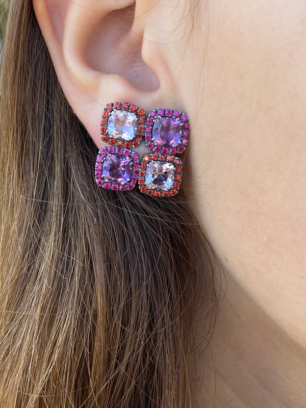 a-furst-dynamite-cluster-earrings-rose-de-france-amethyst-orange-sapphires-rubies-blackened-gold-O1314GNA2RF4O