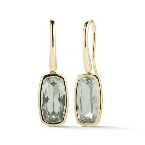A & Furst - Gaia - Drop Earrings with Prasiolite, 18k Yellow Gold