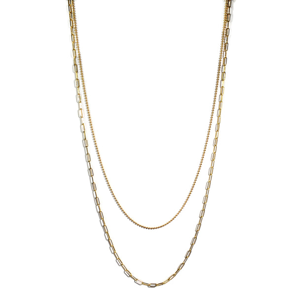 af-jewelers-gold-collection-double-chain-ball-paperclip-necklace-yellow-gold-C2001G-22/25_1