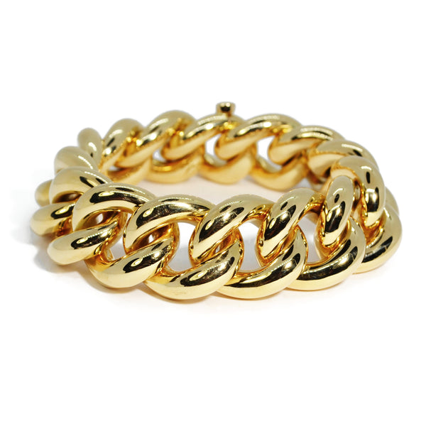 AFJ Gold Collection - Classic Gourmette Link Bracelet, 18k Yellow Gold