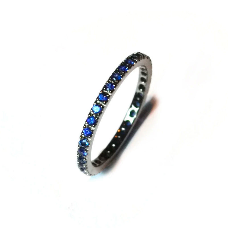 A-FURST-FRANCE-ETERNITY-BAND-RING-BLUE-SAPPHIRES-BLACKENED-GOLD-A1290N4-1.5