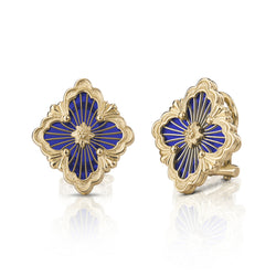 buccellati-opera-tulle-button-earrings-blue-cathedral-enamel-yellow-gold-JAUEAR017974