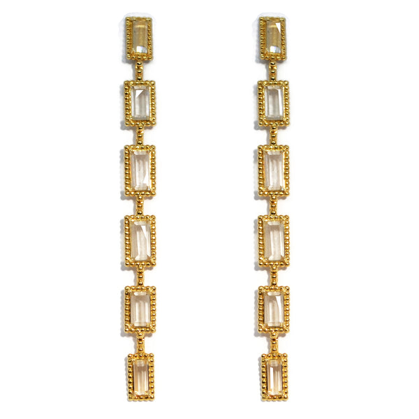 Carla Amorim - Destino - Drop Earrings, Topaz, 18k Yellow Gold