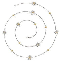 Buccellati-Blossoms-Gardenia-Station-Necklace-with-Brown-Diamonds-Sterling-Silver-with-Gold-Accents