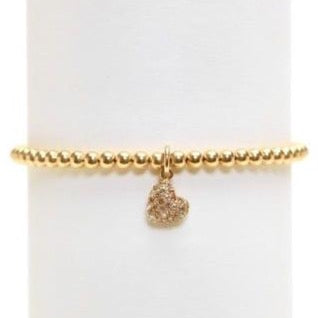 karen-lazar-4mm-diamond-yellow-gold-bead-heart-flex-bracelet
