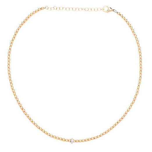 karen-lazar-rose-gold-beaded-necklace-diamond-rondelle