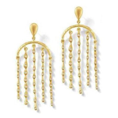 Sandy Leong - Rain Umbrella - Earrings with Brown  Diamonds, 18k Yellow Gold
