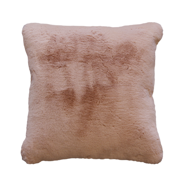 MULBERI Pele Faux Fur Cushion - Dusty Rose