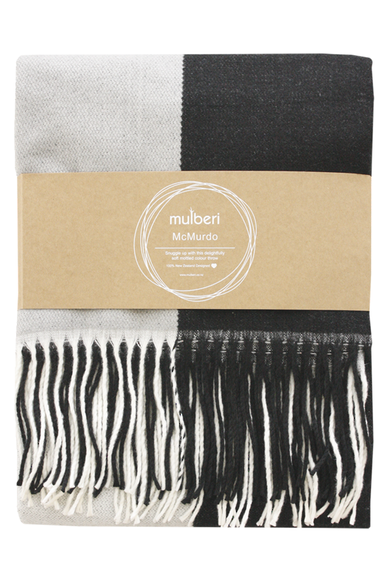 MULBERI McMurdo Throw - Granite/Grey
